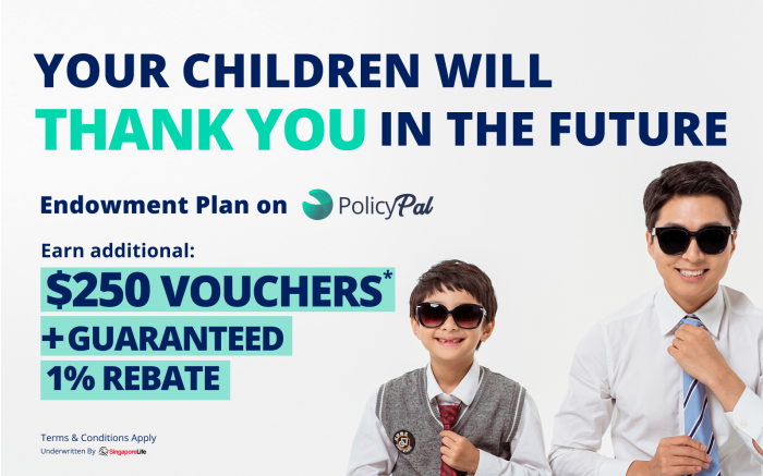PolicyPal Endowment Plan: 2.38% Guaranteed Returns p.a. + $250 Cash Vouchers + 1% Rebate!