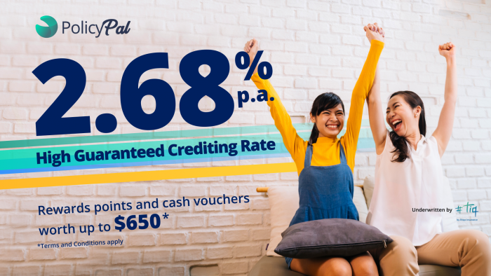 Pump up Your Savings with Tiq by Etiqa Insurance's eEASY save V: Guaranteed 2.68% p.a. Crediting Rate + Rewards Points & Cash Vouchers worth up to $650
